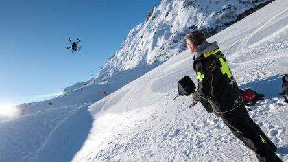 Drones ingezet bij lawineredding Val Thorens